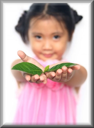 Little Girl with leaf